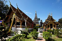 Thailand, Wiang Kum Kam city, Chedi Liam Temple, The temple was built c.1287 and remained in use during the early Lan Na period after the new city of ...