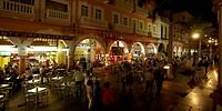 Mexico, Veracruz city, zocalo at night