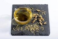 Cup of Oat straw tea / (Avenasativa)