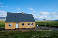 Traditional house of the nineteenth century in the vicinity of Glaumbær, Iceland, Scandinavia, Europe.