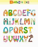 illustration design of alphabet sets