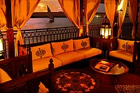 Yacouta Hotel dahabiya boat (design by Mrs. Dora El Chiaty) on the Nile river, at Luxor, Egypt