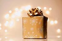 Christmas gift on counter