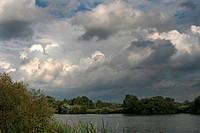 cumulus clouds before badweather, Germany, North Rhine-Westphalia
