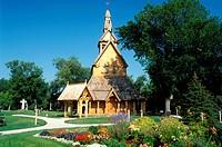 MN, Minnesota, Moorhead, Stave Church at the Heritage Hjemkomst Interpretive Center