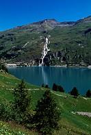 Chevril artificial lake, Rhone-Alpes, France.
