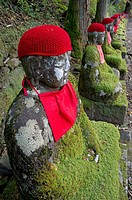 Jizo (Bodhisattva) statues in Kanmangafuchi Abyss in Nikko, Japan.