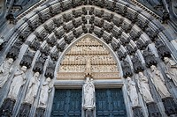 Main Portal , Cologne Cathedral, Germany.