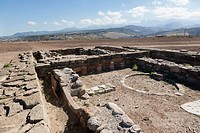 The Sanctuary of Athena, the excavated Temple Ruins of Himera, Himera, Sicily, Italy.