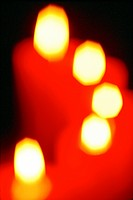 blurred candlelights