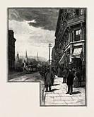 MONTREAL, McGILL STREET, CANADA, NINETEENTH CENTURY ENGRAVING