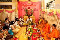 A buddhist wedding in a small village outside of Phnom Penh, Cambodia.