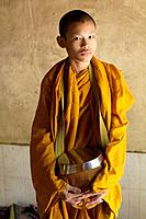 Portrait of a young monk near Battambang, Cambodia.