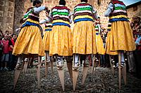 The dance of the stilts. Anguiano. The Rioja.Spain.