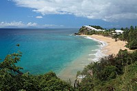 Sandy beach in the Carlisle Bay, Antigua, West Indies, Caribbean, Central America, America