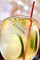 Drink at beach bar in San Juan Puerto Rico