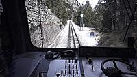 Cog railway, which transports users to Nuria Valley, natural park of great tourist Turistic the Catalan Pyrenees.