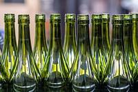 Winery bottles in Cariñena, Saragossa, Aragon.