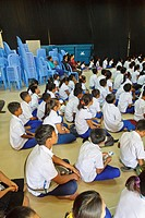 Students at School in the NGO Pour un Sourir d'Enfant in Phnom Penh, Cambodia.