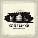 Antique vintage a art of waveform equalizer