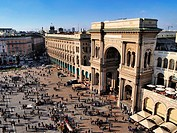 Galleria Vittorio Emanuele II - famous expensive shopping centre in Milan, Lombardy, Italy.