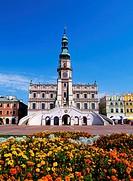 City Hall in Zamosc, Poland.