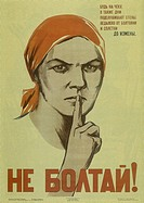 Do not chat! (Poster), 1941. Found in the collection of the Russian State Library, Moscow.