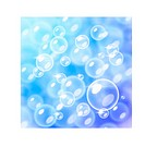 Blurred bubbles over blue
