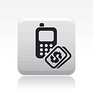 Vector illustration of single phone cost icon