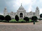 India, West Bengal, Kolkata, city centre: Victoria Memorial (colonial era).