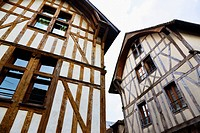 medieval houses in Troyes in France