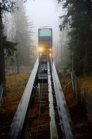 Funicular in Koli National Park, North Karelia, Finland, Europe.