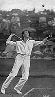 New Zealand tennis player, Anthony Frederick Wilding (1883-1915), Wimbledon Mens Champion in 1910, 1911, 1912 and 1913 pictured early in his career at...