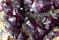 Fluorite comprises of (calcium fluoride). Its properties include fluorescence and cubed crystals. A purple specimen from the Trevaunance mine, St Agne...