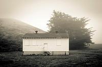 Empty military cabin, Golden Gate National Recreation Area, Sausalito, California, United States.