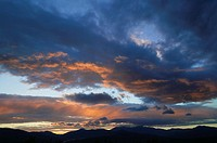 Sunset over Mt. Mansfield, Stowe, Vermont, USA.