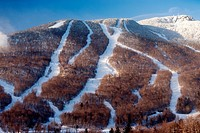 Ski trails at Mt. Mansfield, Stowe Mountain Resort, Stowe, Vermont.