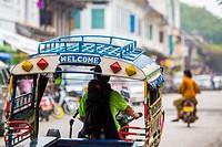 Tuk Tuk in Luang Prabang, Laos.