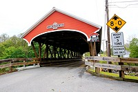 Covered bridge number 31 on Mechanic Street in Lancaster, New Hampshire, NH, USA.