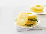 Slices of pineapple
