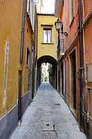 Narrow alleyway in Isernia, Molise, Italy