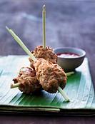 Asian chicken and lemongrass kebabs