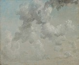 Study of Clouds. One of a group of cloud studies from 1822, which are so accurate in their record of weather conditions that Constable's mistake in da...