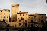 San Martin´s square in Segovia city, Spain.