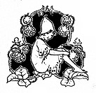Fairy sitting with raspberries- from 'Wild Fruit Fairies'