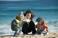 A Family in the Beach