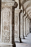 Church and cloister of the Society of Jesus 1698. Arequipa. Peru.UNESCO World Heritage Site.