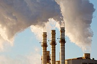 Detroit, Michigan - The Dearborn Industrial Generating Station, operated by CMS Energy, provides steam and electricity for Severstal Steel and Ford Mo...