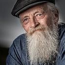 Portrait of senior man with a beard.