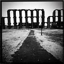 Los Milagros Roman aqueduct, Mérida. Badajoz province, Extremadura, Spain.